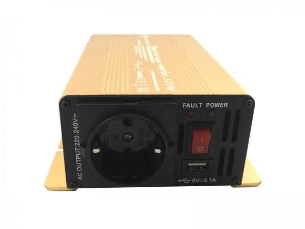Spannungswandler NP 12V 300 Watt Power USB 2.1A reiner SINUS Gold Edition