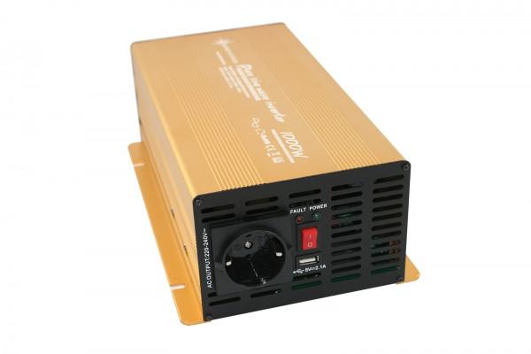 Spannungswandler NP 12V 1000 Watt Power USB 2.1A reiner SINUS Gold Edition
