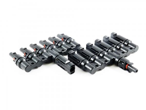 Solar Stecker kompatibel mit MC4 6 fach Verteiler Solarstecker