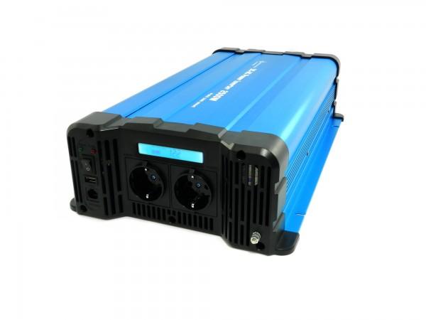 Spannungswandler FS2500D 12V 2500 Watt reiner Sinus BLAU m. Display
