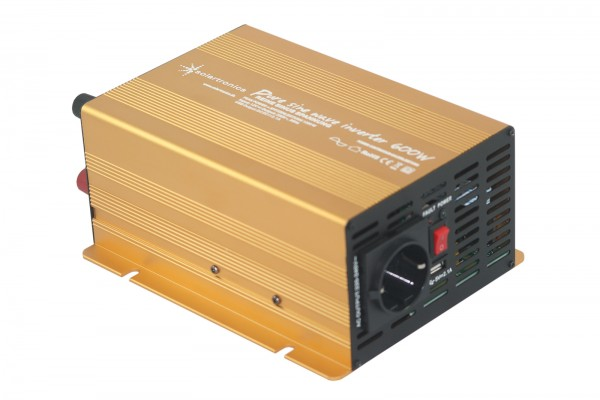 Spannungswandler 12V 600/1200 Watt Power USB 2.1A reiner SINUS Gold Edition