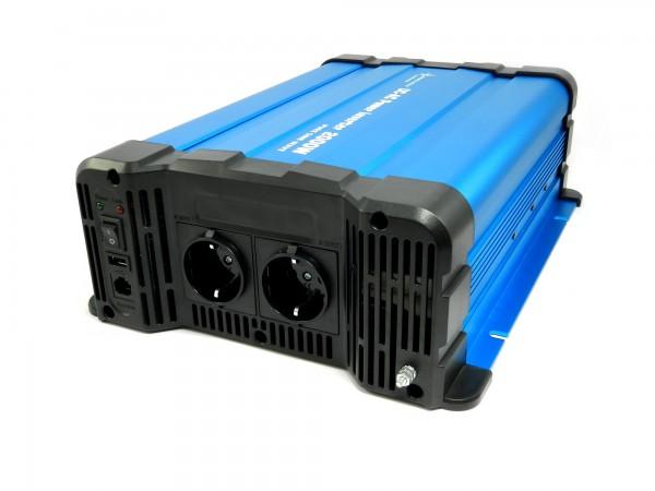Spannungswandler FS2000DR 24V 2000 Watt reiner Sinus BLAU Inverter Fernbedienung optional