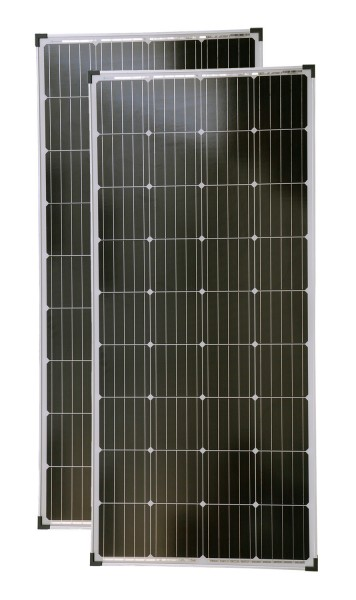 Solarmodule 2 Stück 160 Watt Mono Solarpanel Solarzelle 1480x680x35 92046