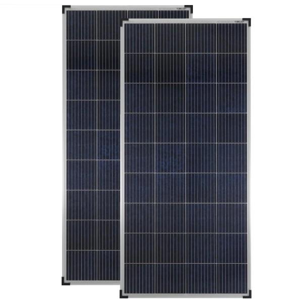 Solarmodule 2 Stück 180 Watt Poly Solarpanel Solarzelle 1475x675x35