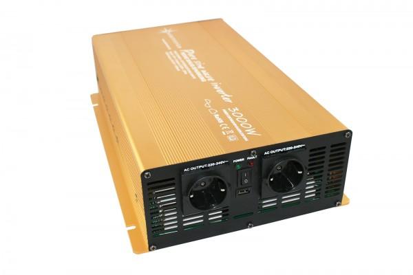 Spannungswandler 12V 3000/6000 Watt reiner SINUS Gold Edition