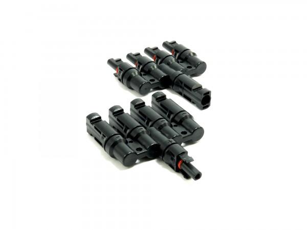 Solar Stecker kompatibel mit MC4 4 fach Verteiler Solarstecker
