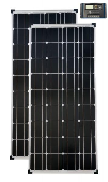 Solarset 12V / 24V 200 Watt mono + Solarladeregler 20 A