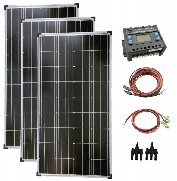 Komplettset 3x130 Watt Solarmodul Laderegler Photovoltaik Inselanlage