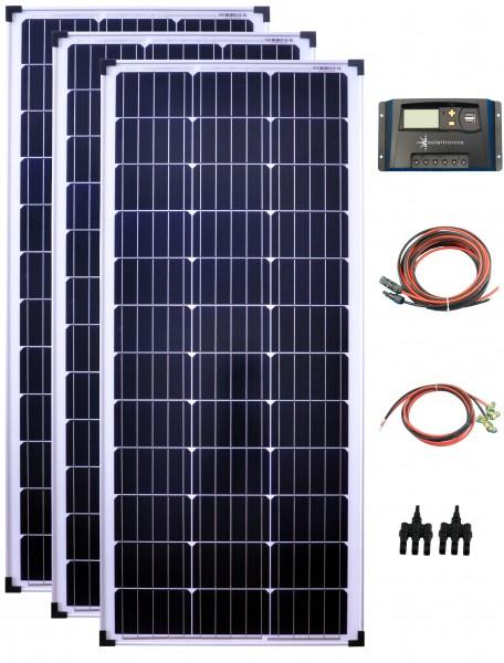 300Watt 12Volt Solar Set 20A Laderegler gelb Solaranlage Inselanlage Garten Camping Solarmodul