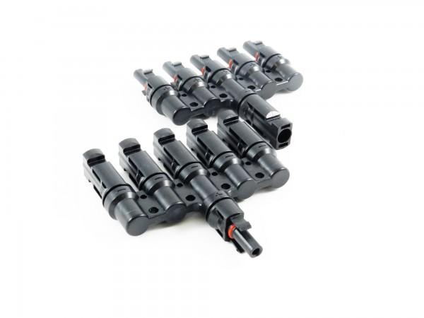 Solar Stecker kompatibel mit MC4 5 fach Verteiler Solarstecker