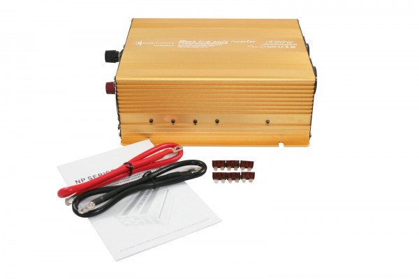 Spannungswandler NP 12V 1500 Watt Power USB 2.1A reiner SINUS Gold Edition