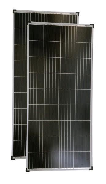 Solarmodul 2 Stück 150 Watt Poly Solarpanel Solarzelle 1480x674x35 90677