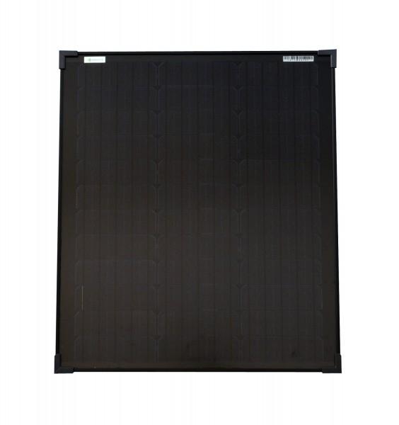 Solarmodul 50 Watt schwarz Mono Solarpanel Solarzelle 630x545x35 92084