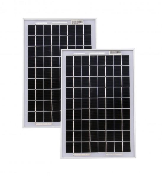 Solarmodule 2 Stück 10 Watt Mono Solarpanel Solarzelle 369x250x18 90530