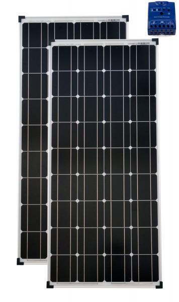 Solarset 12V / 24V 200 Watt mono + Solarladeregler 15 A