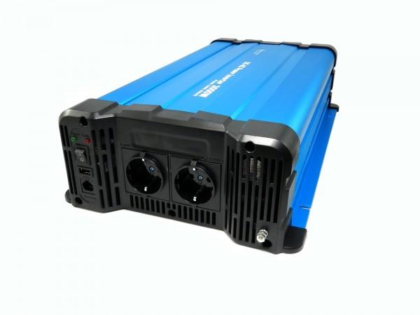 Spannungswandler FS3000DR 12V zu 230V 3000 Watt reiner Sinus BLAU Fernbedienung optional