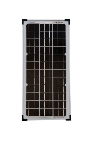 Solarmodul 25 Watt Mono Solarpanel Solarzelle 610x290x25 90554