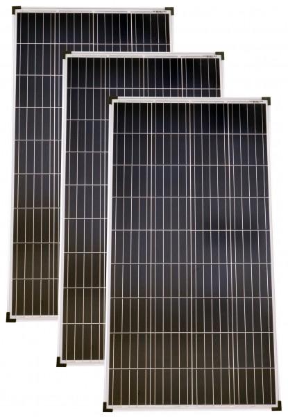 Solarmodule 3 Stück 130 Watt Poly Solarpanel Solarzelle 1290x675x30 92459