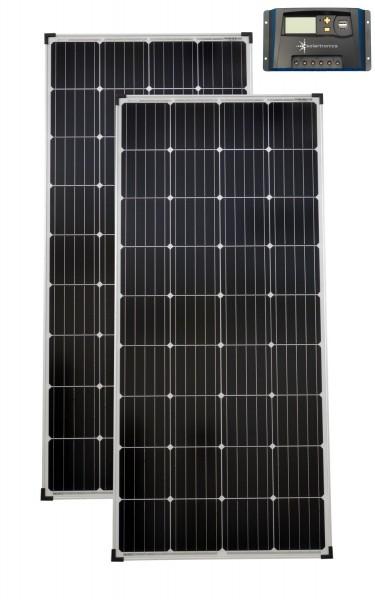 Solarset 12V / 24V 300 Watt + 12V / 24V Laderegler 20A mono