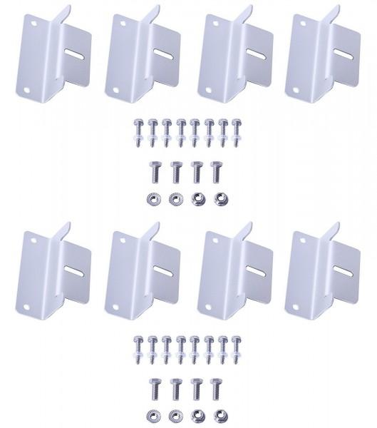 SET 2x Solarmodul Halterung Befestigung Aluminium Z Winkel