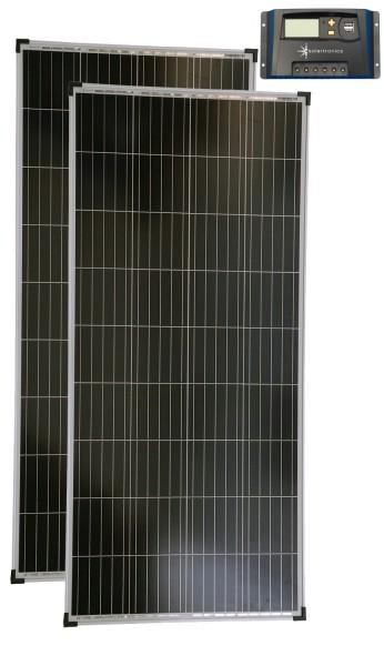 Solarset 12V / 24V 300 Watt poly + 12V / 24V Laderegler 20A