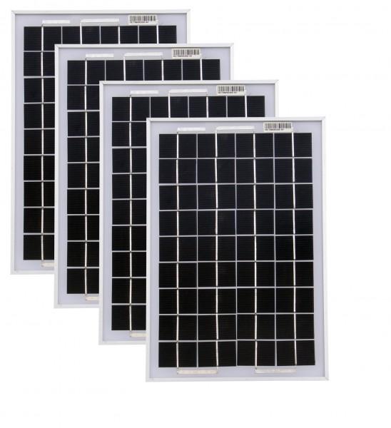 Solarmodule 4 Stück 10 Watt Mono Solarpanel Solarzelle 369x250x18 90530