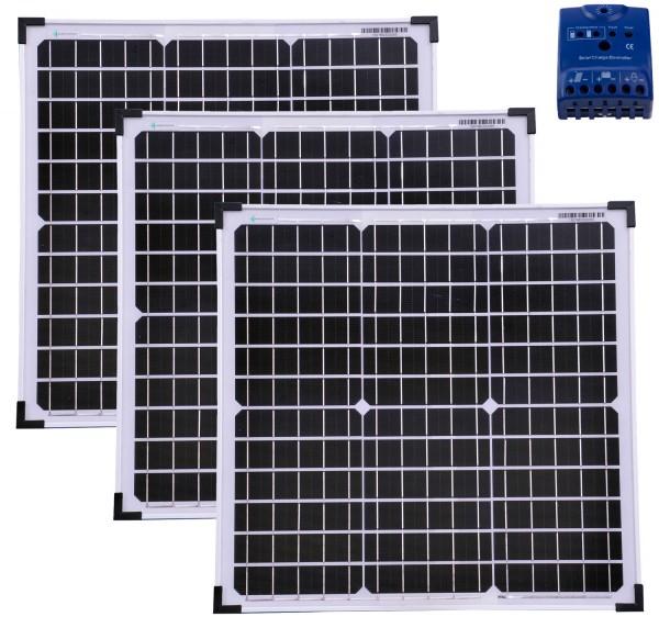 Solarset 30 Watt mono + 12V Solarladeregler 10A