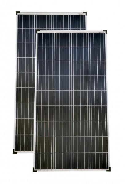 Solarmodule 2 Stück 140 Watt Poly Solarpanel Solarzelle 1300x668x35 91698
