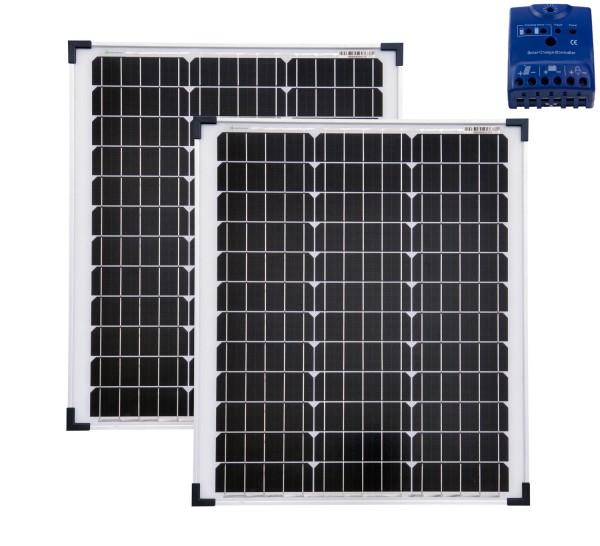Solarset 100 Watt + 12V Laderegler 10A mono