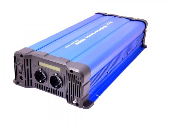 Spannungswandler FS4000D 12V 4000 Watt reiner Sinus BLAU m. Display