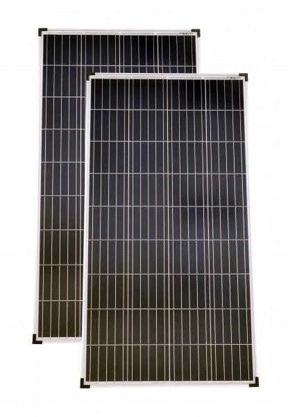 Solarmodule 2 Stück 130 Watt Poly Solarpanel Solarzelle 1290x675x30 92459