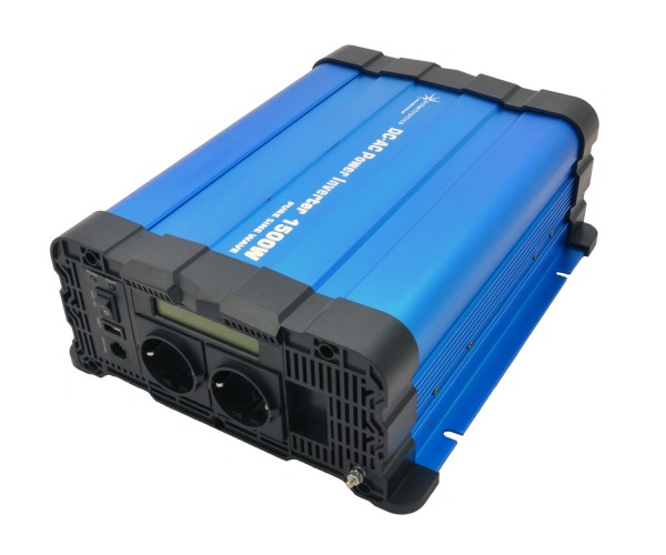 Spannungswandler FS1500D 24V 1500/3000 Watt reiner Sinus BLAU m. Display
