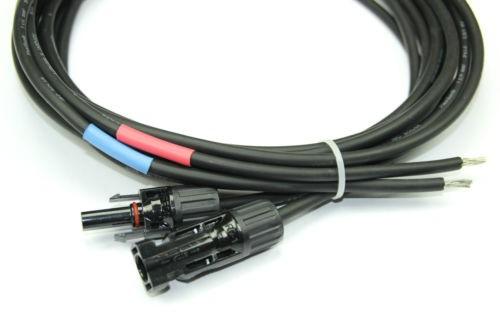Kabel - 2x5 Meter in 6qm - mit Stecker kompatibel zu MC4