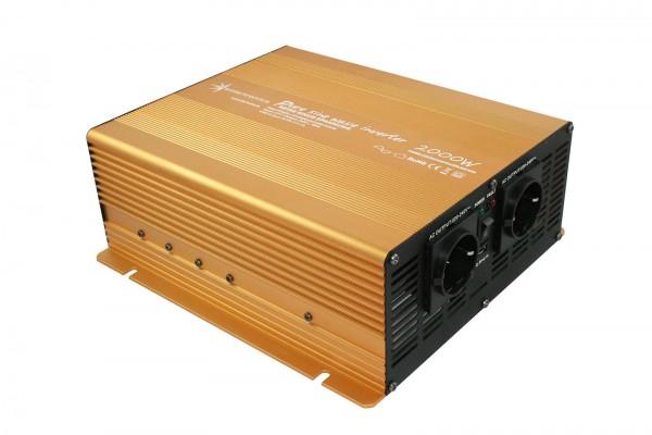 Spannungswandler NP 12V 2000 Watt Power USB 2.1A reiner SINUS Gold Edition