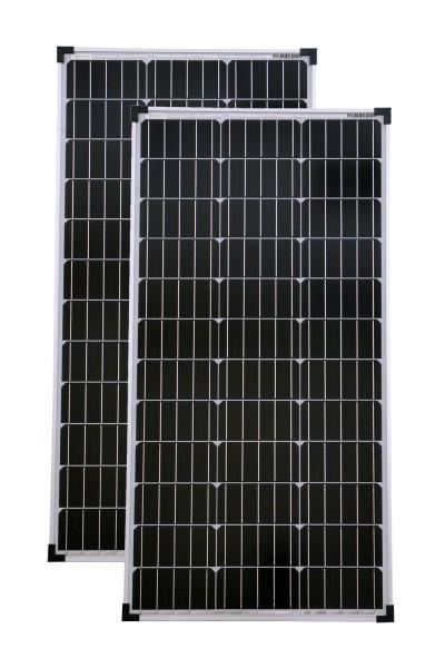 Solarset 160 Watt + 12V Solarladeregler 10A mono