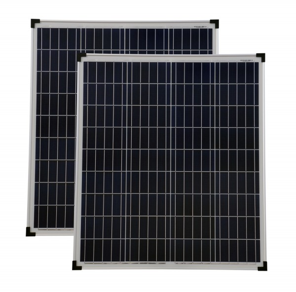 Solarmodul 2 Stück 80 Watt Poly Solarpanel Solarzelle 780x680x30 90615