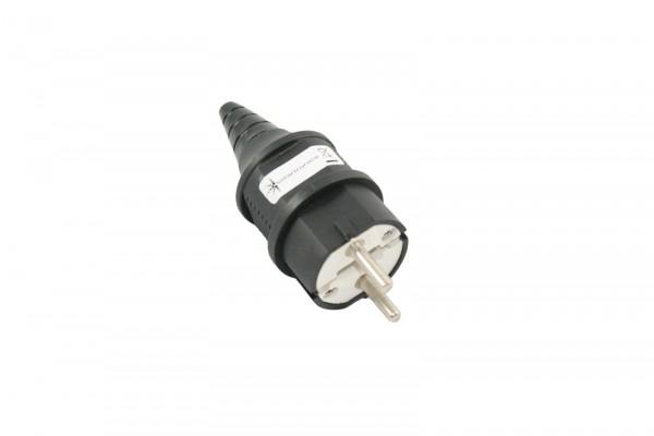 91506 Schuko Stecker 16A 250V Gummi Durchführung Schutzkontakt IP44 1,5 2,5 mm²