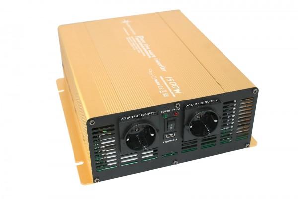Spannungswandler NP 24V 1500 Watt Power USB 2.1A reiner SINUS Gold Edition