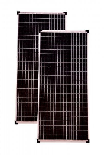 Solarmodule 2 Stück 100 Watt Mono 36V Solarpanel Solarzelle 1130x505x30 93098