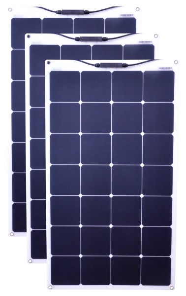 Solarmodule 3 Stück 80 Watt flexibel Mono Solarpanel Solarzelle 950x540x20 94200