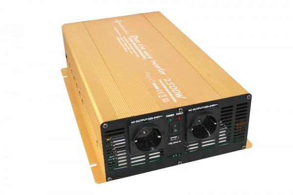 Spannungswandler 24V 2500/5000 Watt reiner SINUS Gold Edition