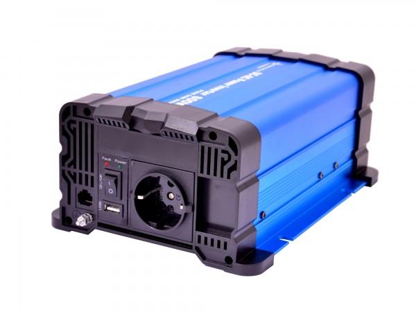 Spannungswandler FS600DR 24V 600 Watt reiner Sinus BLAU Inverter