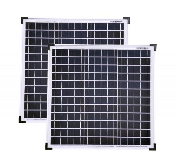 Solarset 60 Watt + 12V Solarladeregler 10A poly