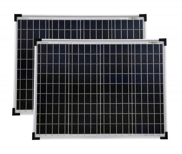 Solarmodule 2 Stück 50 Watt Poly Solarpanel Solarzelle 668x508x35 92381
