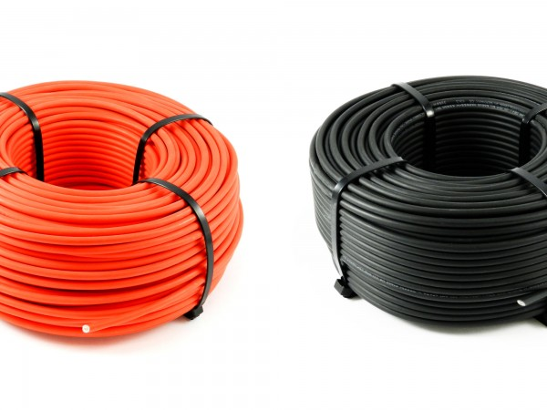 Solarkabel 6mm² 100m Rolle Ring rot oder schwarz
