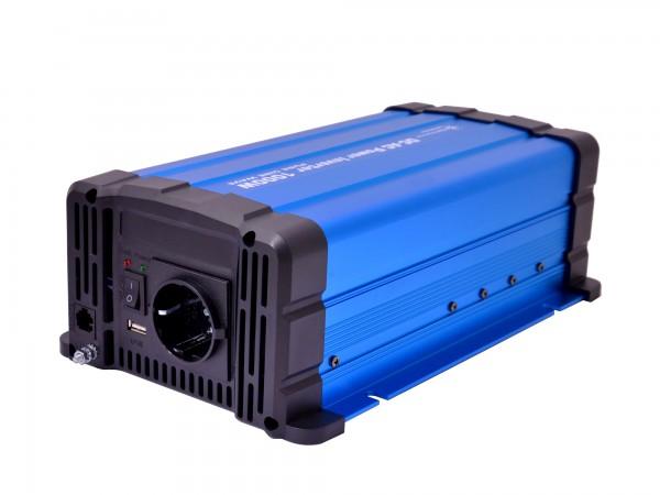Spannungswandler FS1000DR 12V 1000 Watt reiner Sinus BLAU Inverter