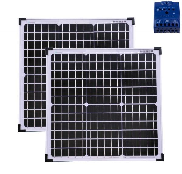 Solarset 60 Watt + 12V Solarladeregler 10A mono