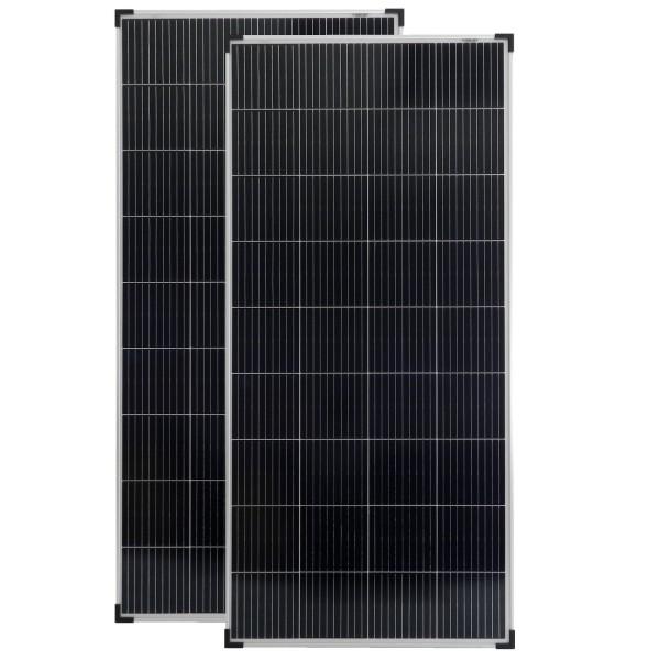 Solarmodule 2 Stück 200 Watt 18V Mono Solarpanel Solarzelle 1480x675x35