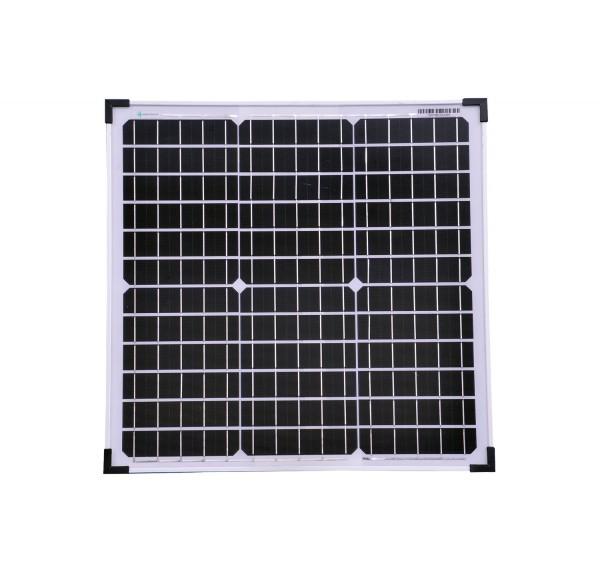 Solarmodul 30 Watt Mono Solarpanel Solarzelle 520x510x25 90561