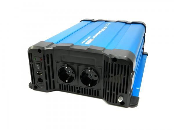 Spannungswandler FS1500DR 24V 1500 Watt reiner Sinus BLAU Inverter Fernbedienung optional